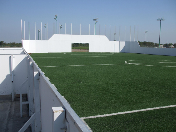 Construccion de cancha de futbol rapido